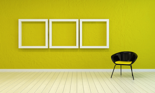 add wall frames to your empty hall - Empty Frames On Wall